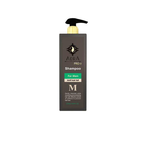 شامپو تقویت کننده و ضد ریزش مو مردانه آدرا حاوی عصاره کافئین حجم 270 میل