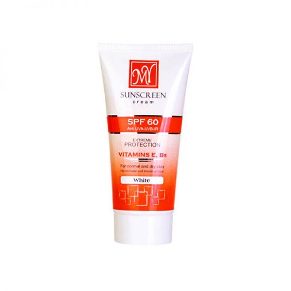 کرم ضد آفتاب بی رنگی SPF 60 مای مخصوص پوست نرمال و خشک حجم ۵۰ میل
