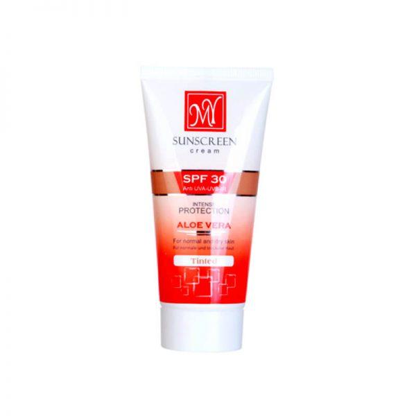 کرم ضد آفتاب رنگی SPF 30 مای مناسب پوست نرمال و خشک حجم ۵۰ میل