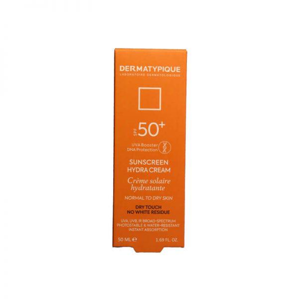 ضد آفتاب بی رنگ هیدرا درماتیپیک مخصوص پوست خشک SPF 50 حجم 50 میل