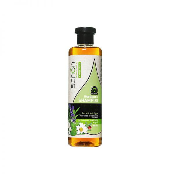 شامپو تقویت کننده هفت گیاه شون مناسب انواع مو حجم300 میل