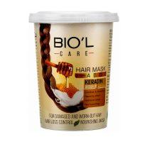 ماسک مو تغذیه کننده حاوی شیر و عسل بیول مخصوص موهای آسیب دیده حجم 500 میل