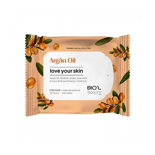 دستمال مرطوب پاک کننده آرایش صورت پوستهای خشک و حساس ۲۰ عدد