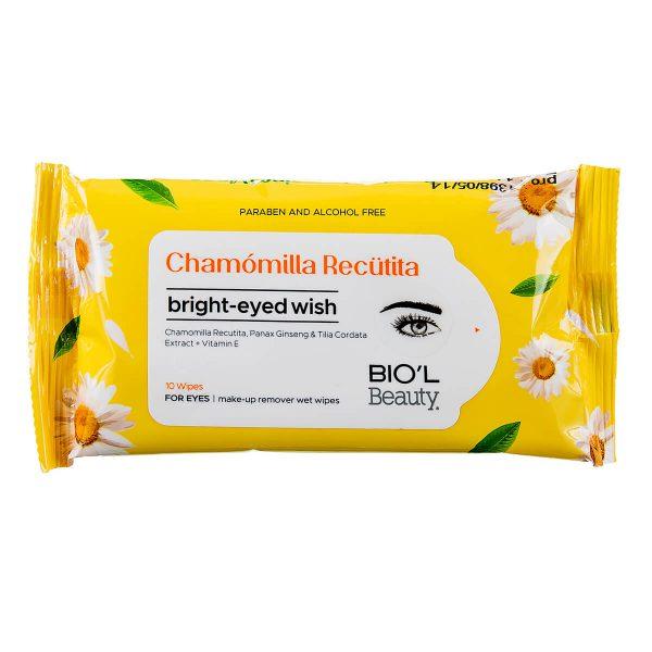 دستمال مرطوب پاک کننده آرایش چشم بیول ۱۰ عدد